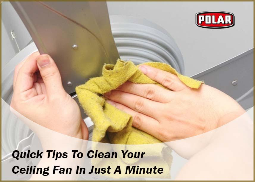 Cleaining ceiling fans