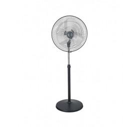 Polar Blustery Pedestal Fan in Black - Chrome