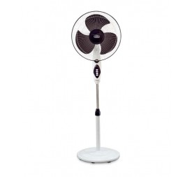 Polar Conquest Hi-Speed Pedestal Fan in White - Purple