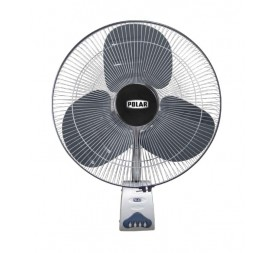 Polar Galestar Farrata 500 mm Osc. Wall Fan in Black - Silver