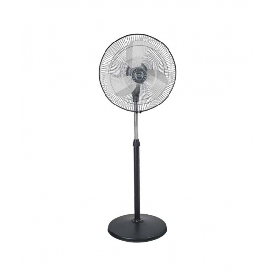 Polar Blustery Pedestal Fan in Black - Chrome