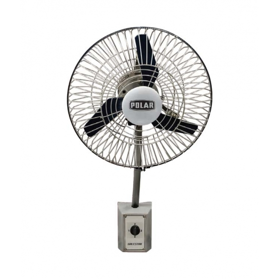 Polar Galestar Air Circulator Wall Fan in Black - Silver