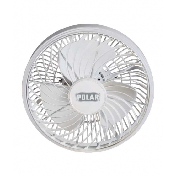 Polar Cabin Fan in Stormy White