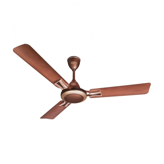 Polar Marbella Fan in Cappuccino Brown - Light Pink