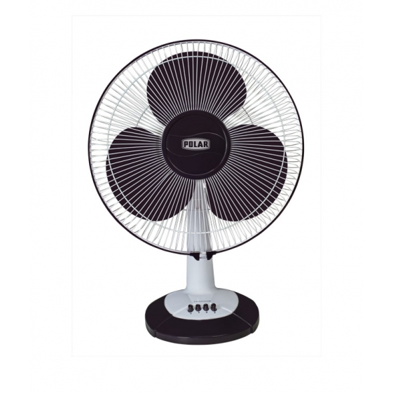 Polar Conquest Regular-Speed Table Fan in White - Purple